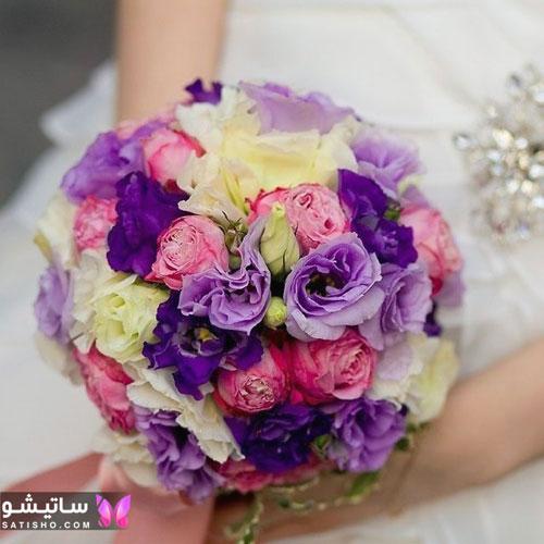 دسته گل عروس طبیعی جدید