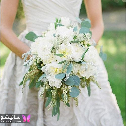 عکس از دسته گل عروس جدید