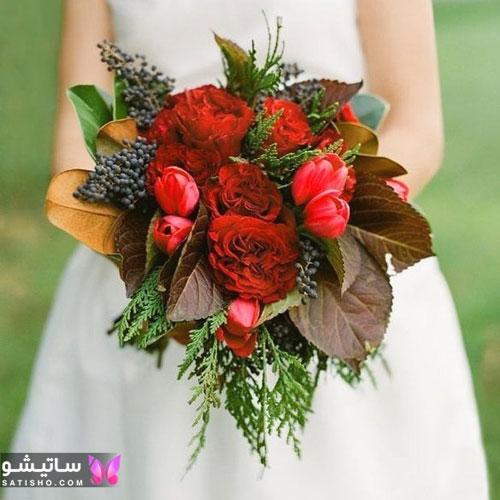 دسته گل عروس طبیعی ایرانی