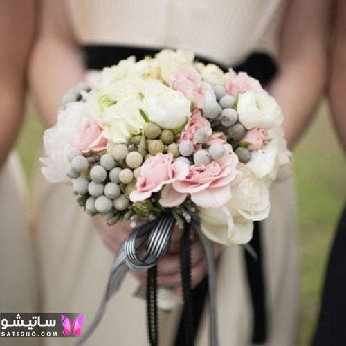 دسته گل طبیعی عروس2019