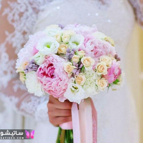 دسته گل طبیعی عروس در اینستاگرام