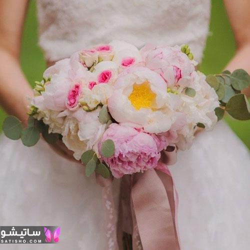 دسته گل طبیعی عروس 2019