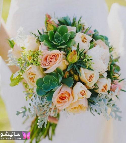 دسته گل طبیعی عروس قیمت