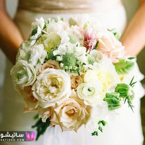 دسته گل طبیعی عروس مدل جدید