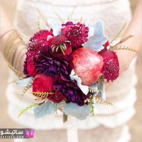 دسته گل طبیعی عروس شیک