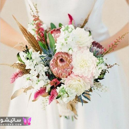 مدل دسته گل عروس طبیعی