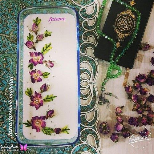 تزیین فرنی ماه رمضان با گل محمدی