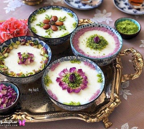تزیین ظرف فرنی برای افطار