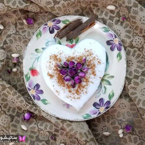 آموزش تزیین فرنی با گل محمدی