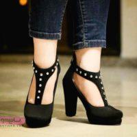 کفش مجلسی دخترانه پاشنه بلند مشکی جذاب