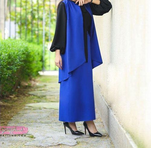 مدل مانتو دامن شیک زنانه رنگ سال