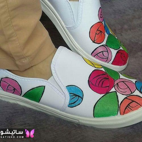 ۵۳ ایده جدید برای نقاشی روی کفش های اسپرت زنانه و مردانه ۲۰۲۰