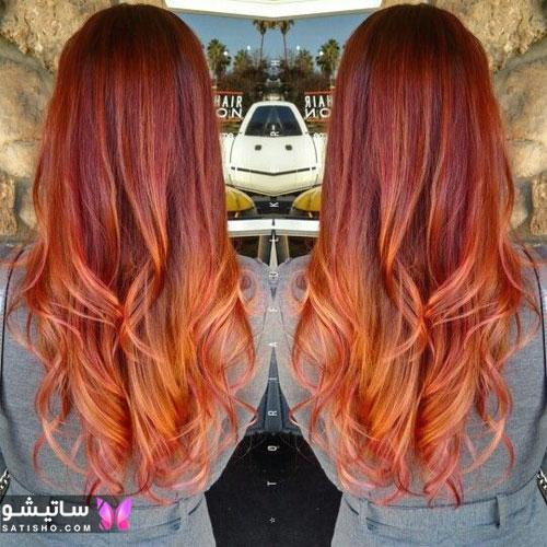 رنگ موی جذاب زنانه با تناژ شرابی