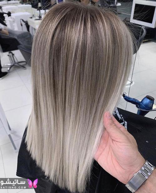 رنگ موی هایلایت روشن زنانه