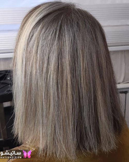 مدل هایلایت تیره برای مو کوتاه