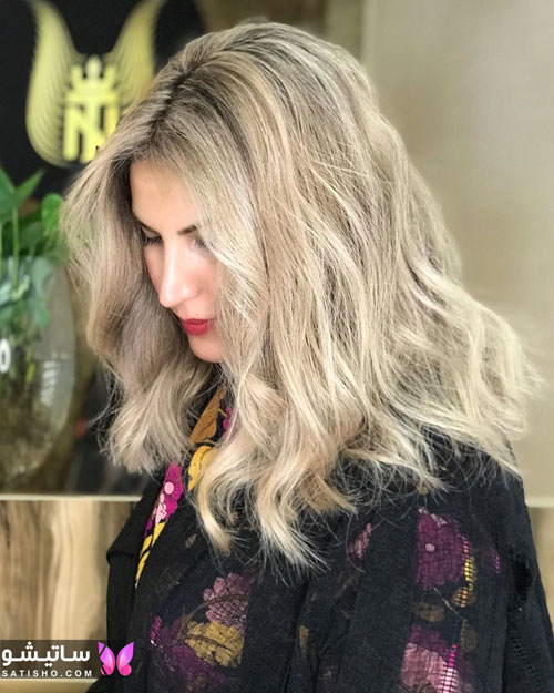 رنگ موی زنانه هایلایت روشن
