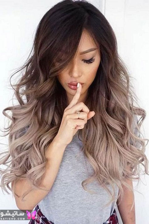 رنگ موی دخترانه نسکافه ای دودی بدون دکلره
