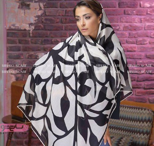 جدیدترین مدل روسری مشکی طرحدار زنانه
