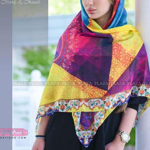 روسری دخترانه با طرح های اسلیمی و سنتی