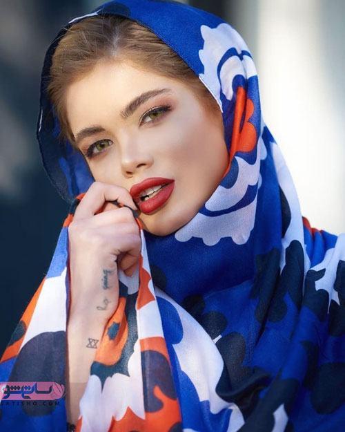 شال جدید دخترانه رنگ آبی کلاسیک 2020