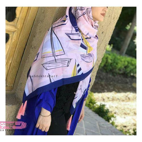 روسری دخترانه قواره بزرگ برای تیپ دانشجویی