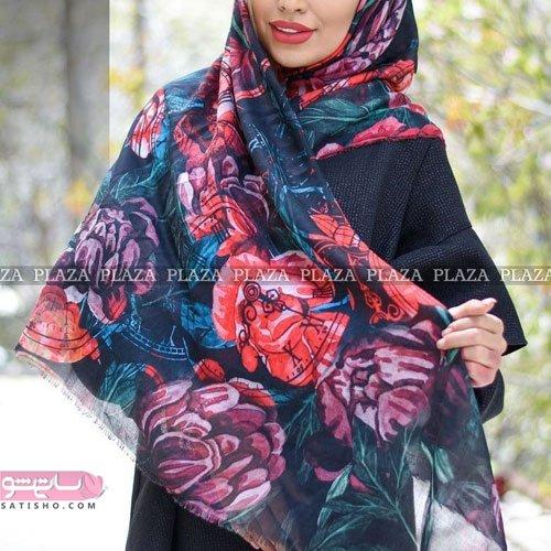 روسری مشکی طرحدار 2020