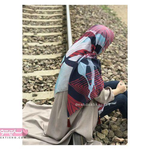 روسری نخی زنانه بسیار شیک