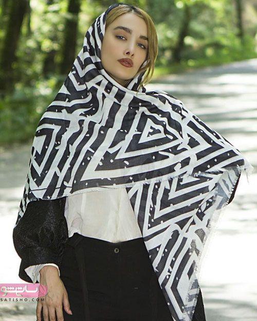مدل روسری مشکی مجلسی زنانه