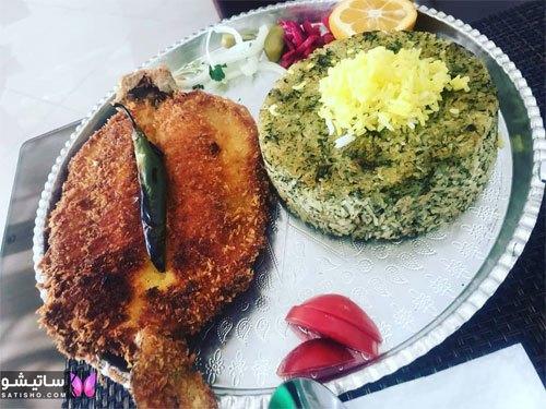 ۶۱ مدل تزیین سبزی پلو با ماهی
