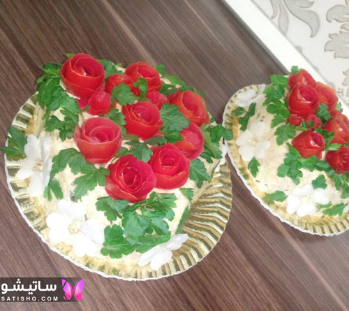 تصاویر تزیین سالاد الویه مجلسی