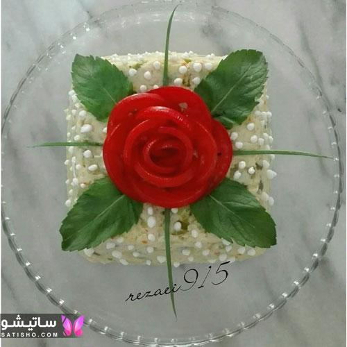 ایده دیزاین سالاد الویه مجلسی و رستورانی