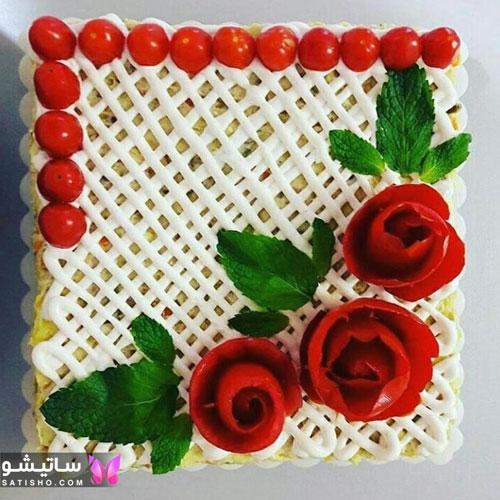 دیزاین سالاد الویه رستورانی بسیار شیک و زیبا