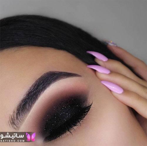 شیک ترین سایه چشم عروس ایرانی مدل دودی