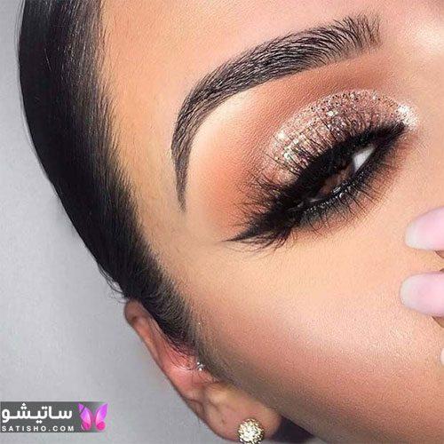 نمونه آرایش چشم عروس ایرانی 2020