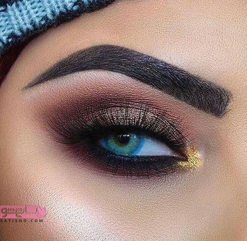 مدل آرایش چشم ملایم 2020