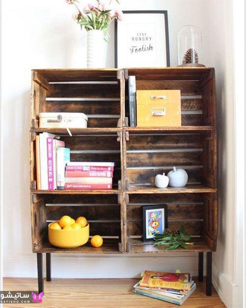 خلاقیت با جعبه چوبی در خانه