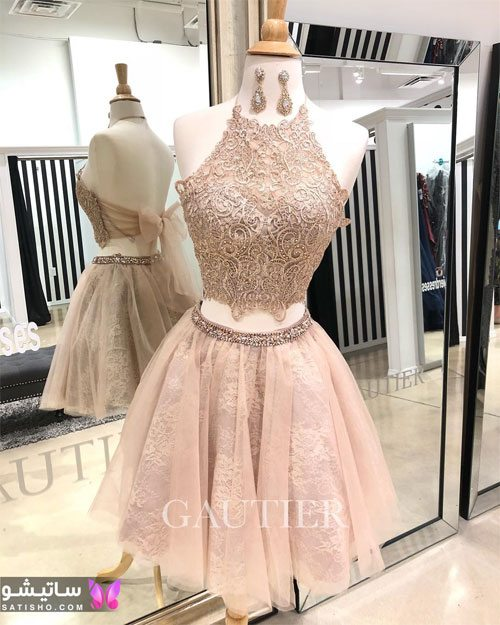ژورنال لباس مجلسی دخترانه با دامن پرنسسی