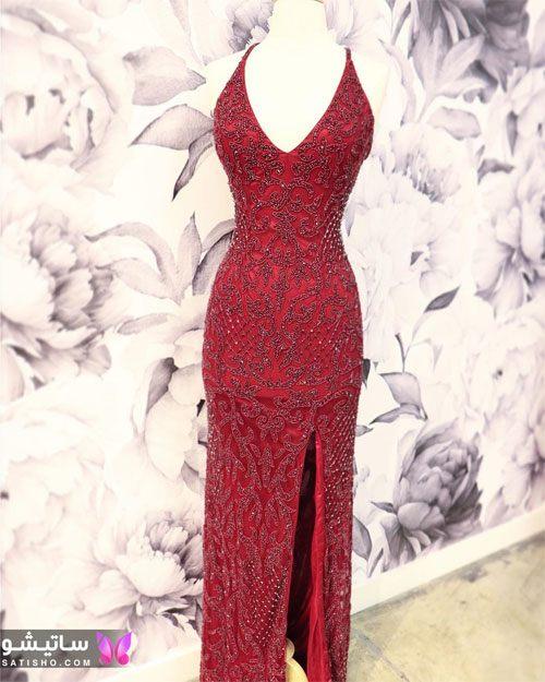 شیک ترین مدل لباس مجلسی بلند چاک دار
