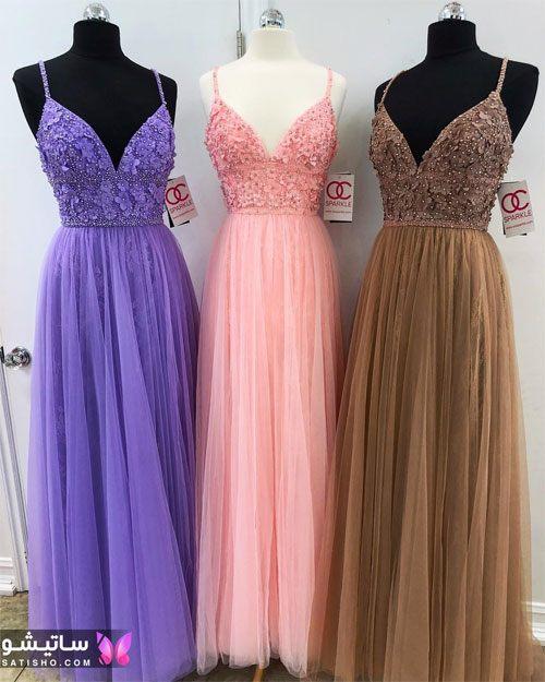 لباس مجلسی زنانه با رنگ های شاد و زیبا