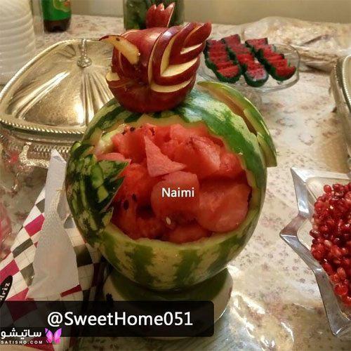 ❤️ میوه آرایی شب یلدا ۹۹ ❤️ ایده های تزیین میوه برای شب یلدای امسال