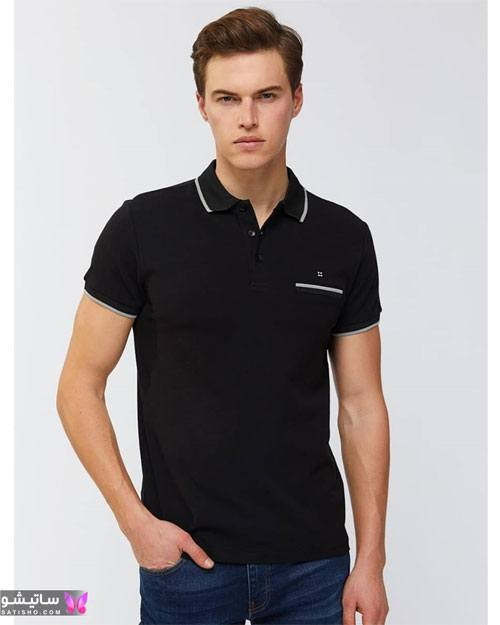نمونه تیشرت مشکی مردانه مناسب آقایان شیک پوش