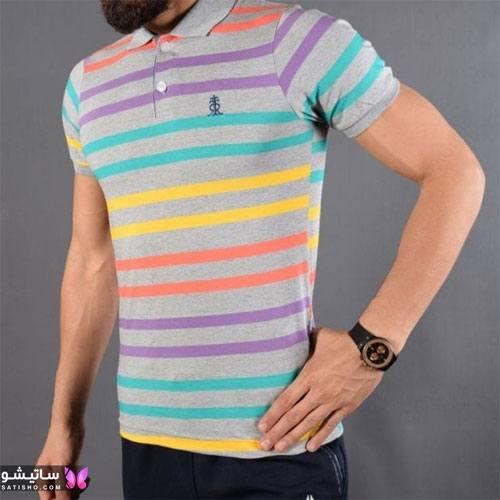 مدل تی شرت راه راه مردانه 2019 جذاب