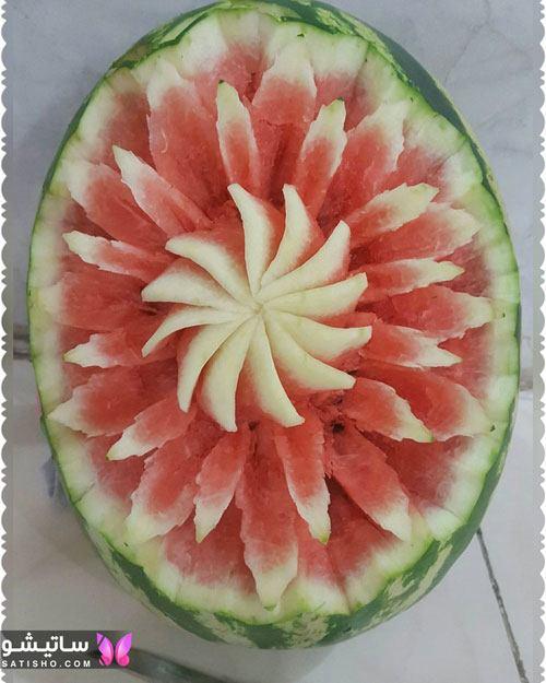 تزیین ساده و شیک هندوانه