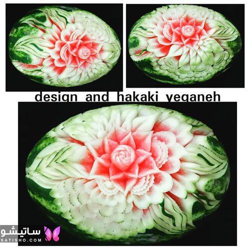 طراحی هندوانه شب یلدا