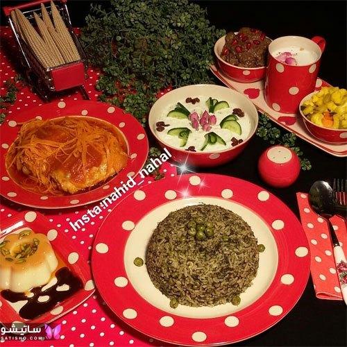 تزیین ساده و شیک میز غذا