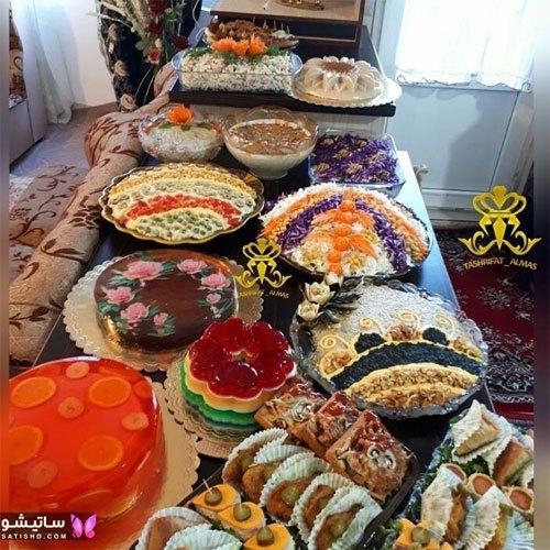 دیزاین میز غذا برای مهمان