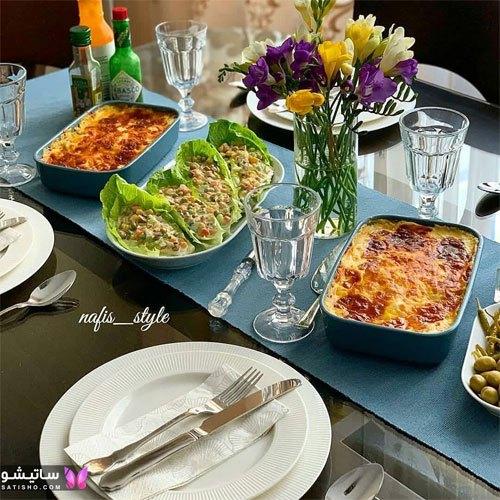 اینستاگرام تزیین میز غذاخوری