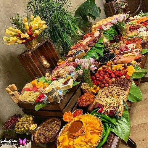 تزیین فوق العاده جذاب میز غذا