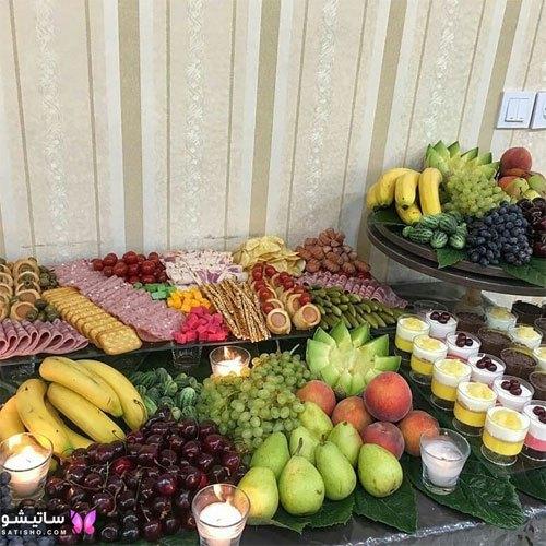 تزیین میز مناسب دسر و میوه