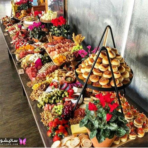 طراحی زیبا میز غذا 98